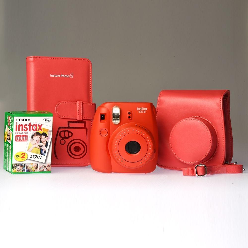 Fujifilm Instax Mini 8 Raspberry - ENTHUSIAST KIT