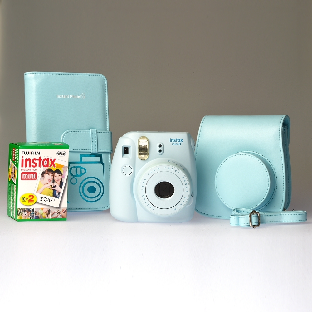 Fujifilm Instax Mini 8 Blue - ENTHUSIAST KIT