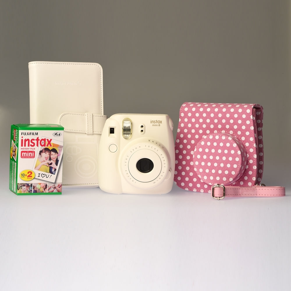 Fujifilm Instax Mini 8 White Dots - ENTHUSIAST KIT