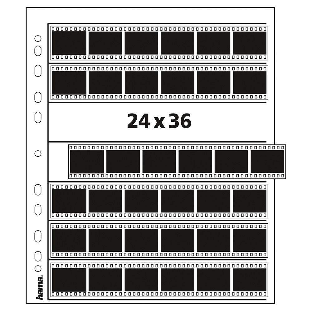 Hama Feuilles de Négatifs 35mm 7x6 - Pergamine - 100 pcs