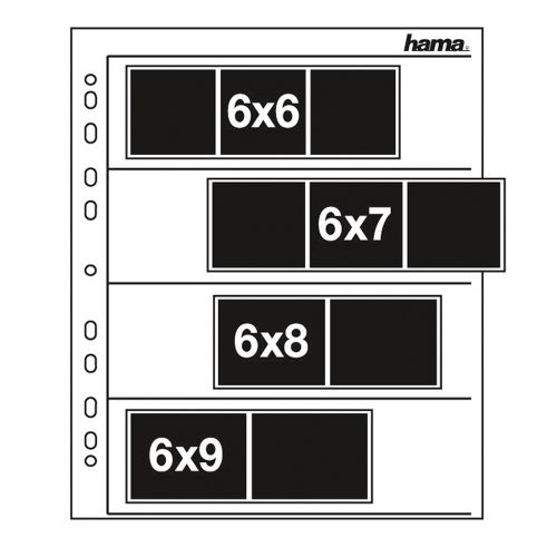 Hama pergamijn negatiefbladen 6x6-6x9 cm - 100 stuks