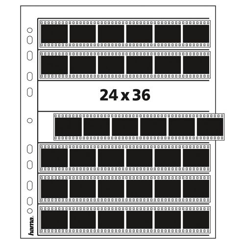 Hama Feuilles de Négatifs 35mm 7x6 - Pergamine - 25 pcs