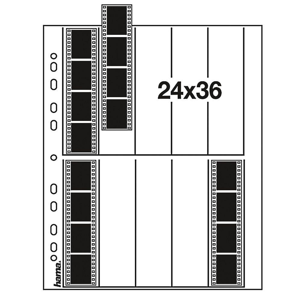 Hama Feuilles de Négatifs 35mm 10x4 - Pergamine - 25 pcs