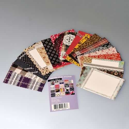 Instax Mini Film Stickers - Lace Fabric