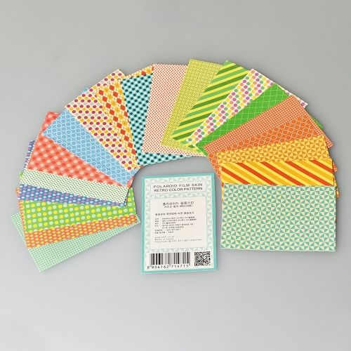 Instax Mini Film Stickers - Retro Color