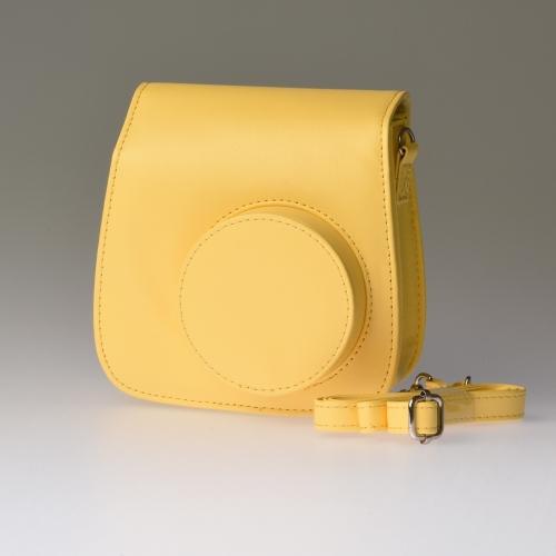 Leren draagtas Instax Mini 8 - Geel