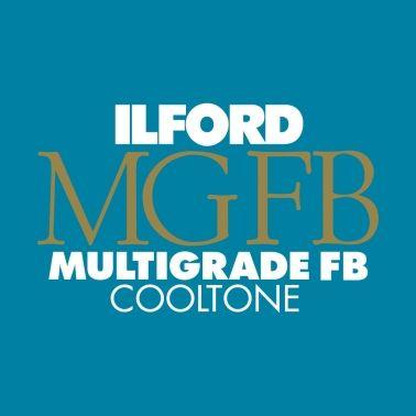 Ilford Photo 20,3x25,4 cm - BRILLANT - 25 FEUILLES - Multigrade Fiber Cooltone HAR1175020