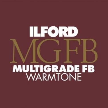 Ilford Photo 20,3x25,4 cm - BRILLANT - 25 FEUILLES - Multigrade Fiber Warmtone HAR1168374