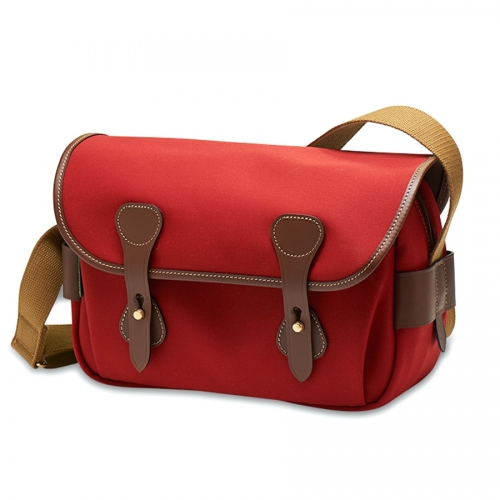 Billingham S3 - Burgundy Canvas / Chocolate Leather
