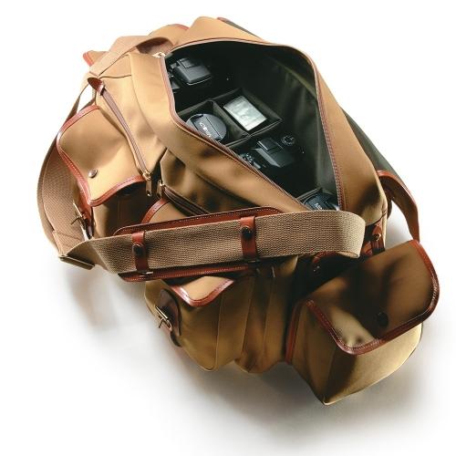 Billingham 550 - Khaki Canvas / Tan Leather