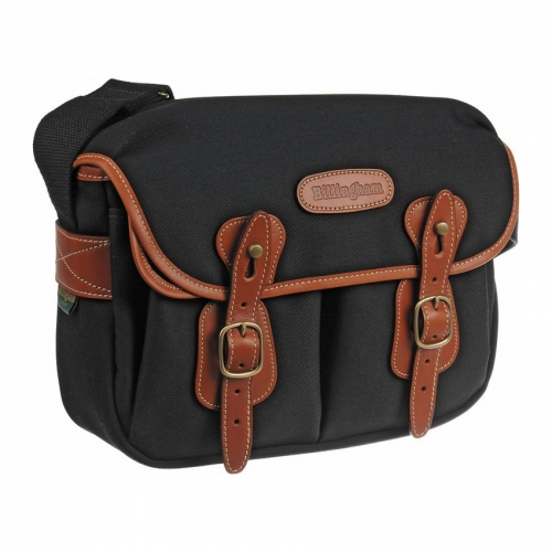 Billingham Hadley Small - Black Canvas / Tan Leather