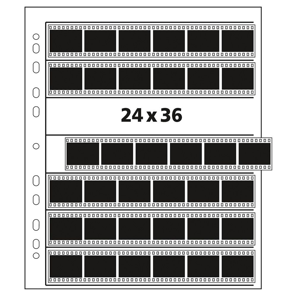 Kenro pergamijn negatiefbladen 35mm 7x6 - 25 stuks