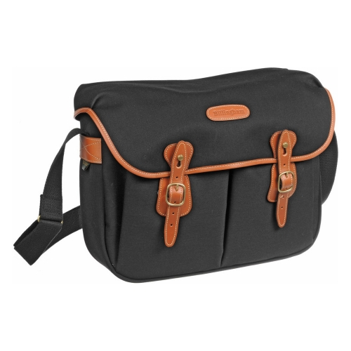 Billingham Hadley Large - Black Canvas / Tan Leather