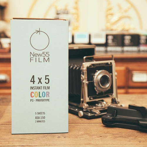 NEW55 P3 Prototype Color Instant Film voor 4x5 INCH camera's