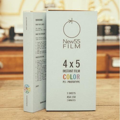 NEW55 P3 Prototype Color Instant Film voor 4x5 INCH camera's