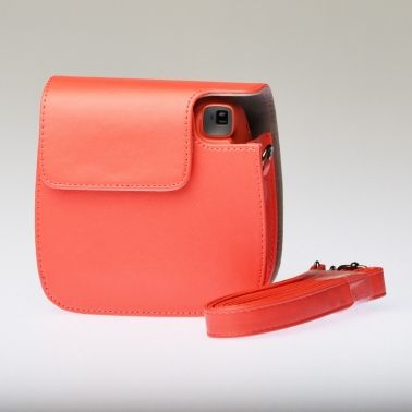 Leather Bag Instax Mini 8 - Red