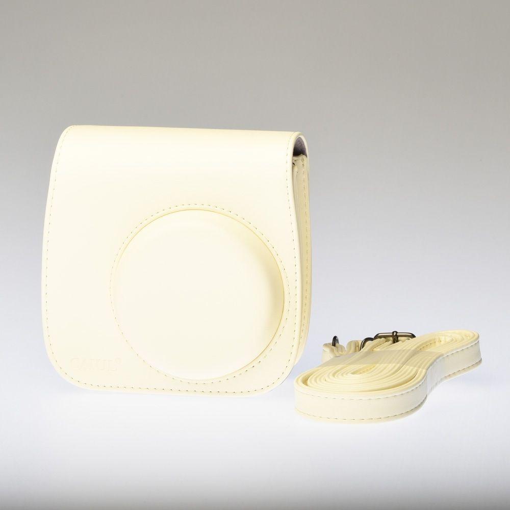 Leather Bag Instax Mini 8 - Yellow (Crème)