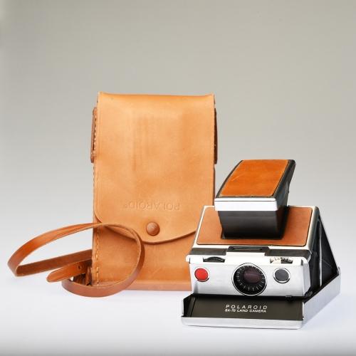 Polaroid SX-70 Land Camera + Leren Tas