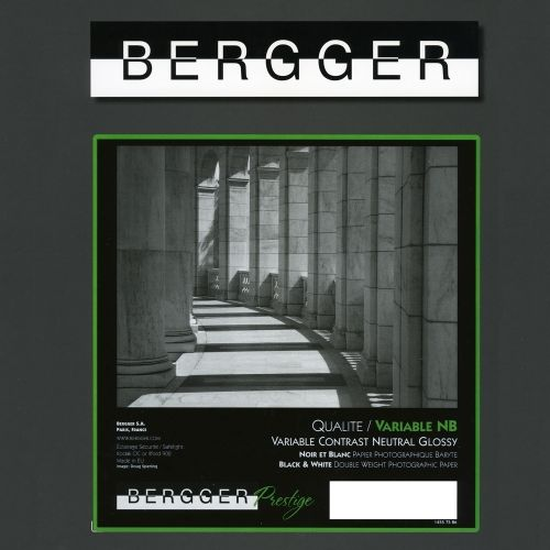 Bergger 20,3x25,4 cm - GLOSSY - 25 SHEETS - Prestige Variable NB VCNB-81025