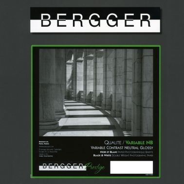 Bergger 20,3x25,4 cm - BRILLANT - 25 FEUILLES - Prestige Variable NB VCNB-81025