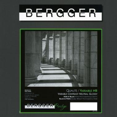 Bergger 20,3x25,4 cm - GLOSSY - 25 SHEETS - Prestige Variable NB VCNB-81025