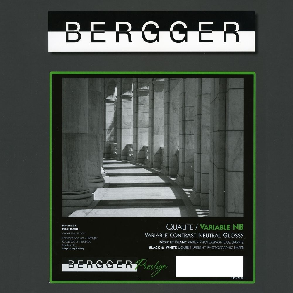 Bergger 24x30,5 cm - BRILLANT - 25 FEUILLES - Prestige Variable NB VCNB-243025