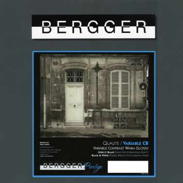 Bergger 20,3x25,4 cm - GLANZEND - 25 VELLEN - Prestige Variable CB VCCB-81025