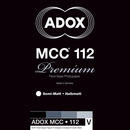 Adox 12,7x17,8 cm - SEMI-MAT - 100 FEUILLES - MCC 112