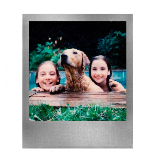 Polaroid 600 Color Instant Film - Silver Frames