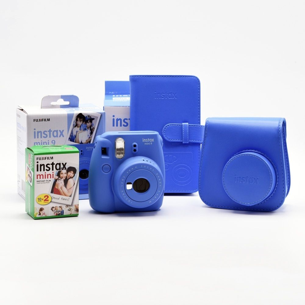 Fujifilm Instax Mini 9 - Cobalt Blue / Enthusiast Kit