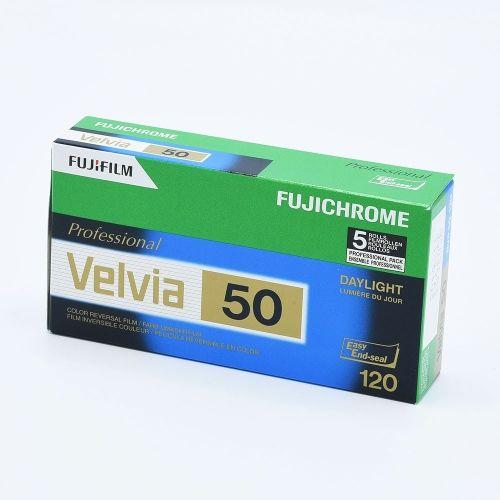 Fujichrome Velvia 50 120 / 5-pak