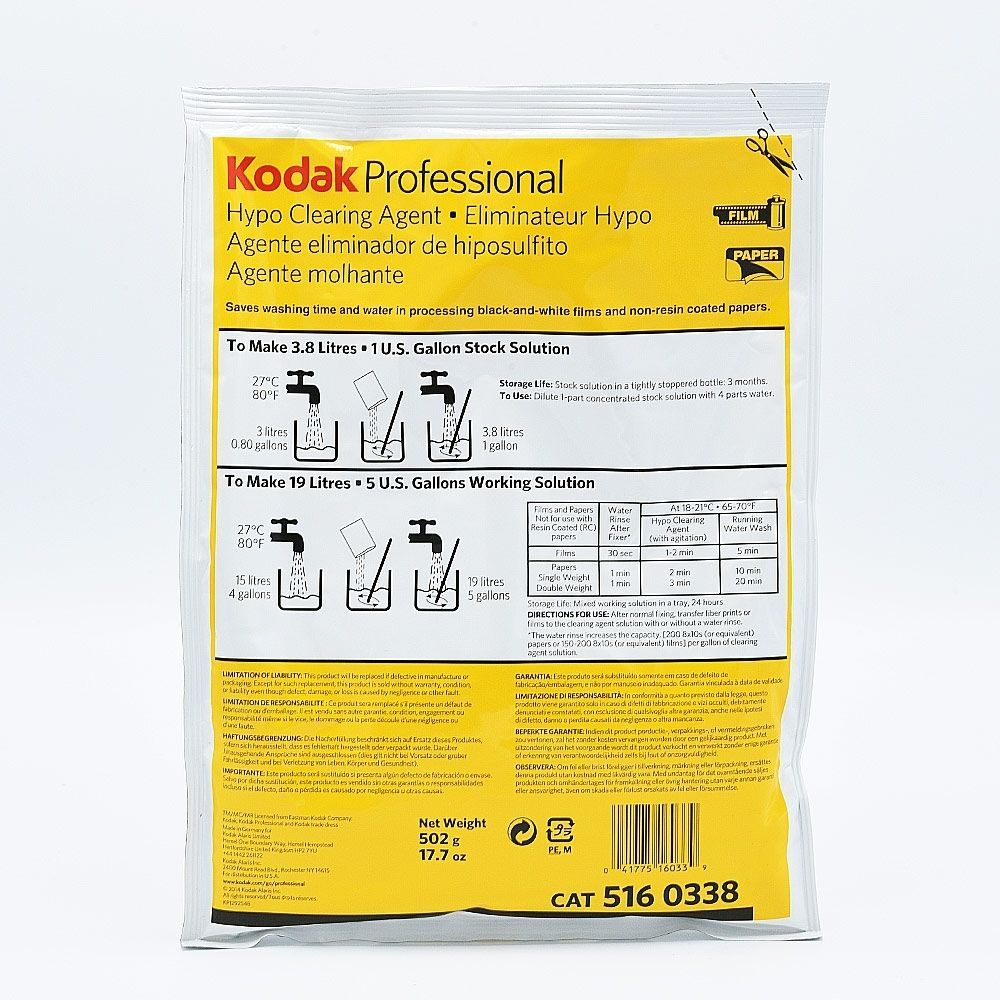 Kodak Hypo Clearing Agent - 3.8L Stock - 19L Solution de travail