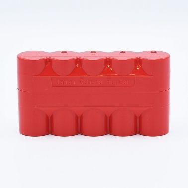 JCH 120 Film Case - 5 Films - Red