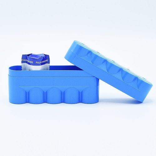 JCH 120 Film Case - 5 Films - Blue