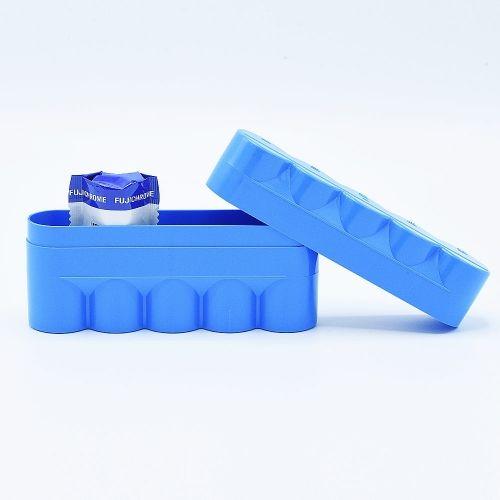 JCH 120 Film Case - 5 Films - Blauw