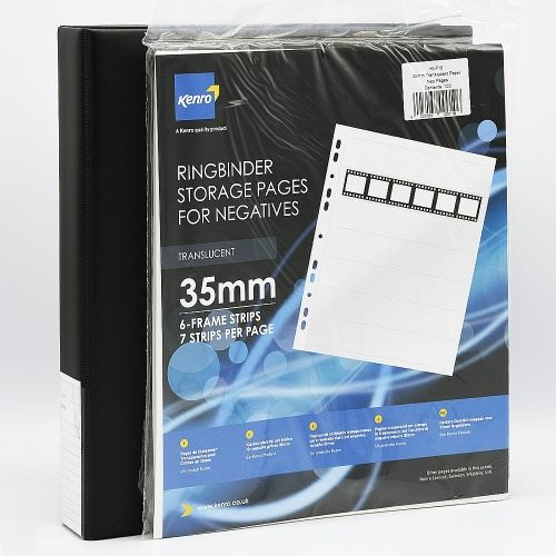 Kenro 35mm Film Storage Combo Large / Negative Storage Pages + Binder