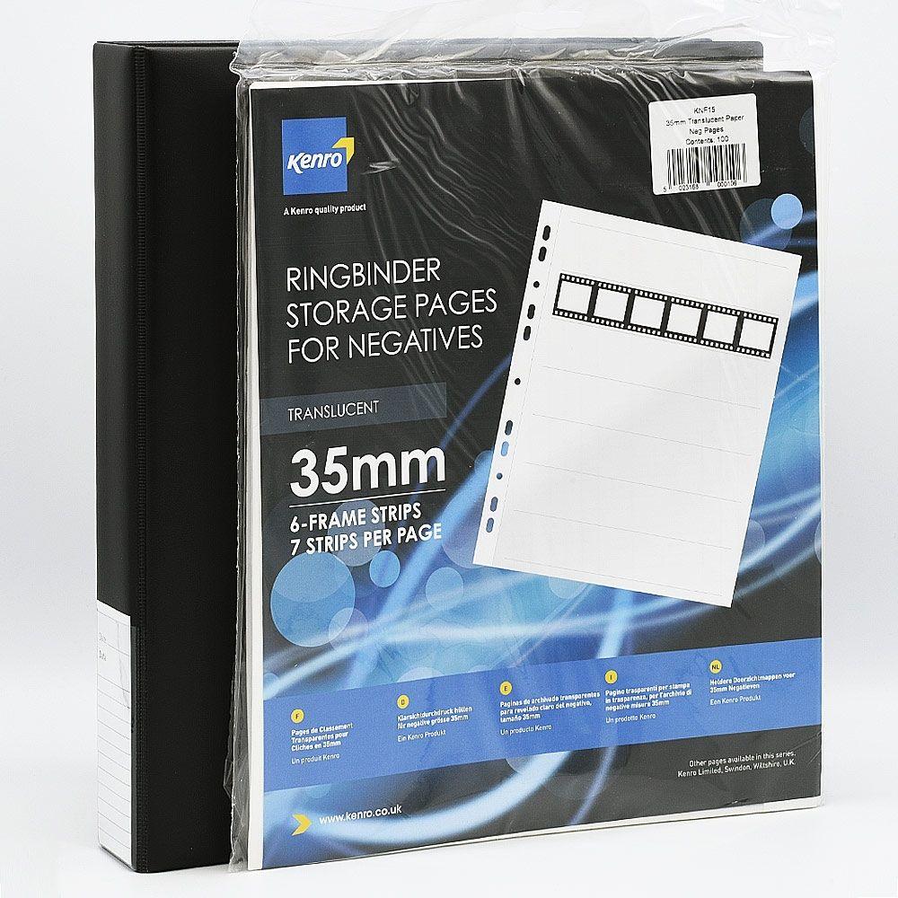 Kenro 35mm Film Storage Combo Large / Negatiefbladen + album