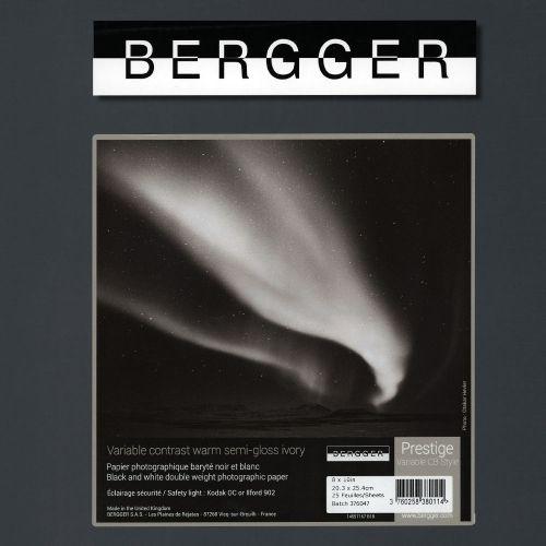 Bergger 20,3x25,4 cm - SEMI-BRILLANT - 25 FEUILLES - Prestige Variable CB Style VCCBS-81025