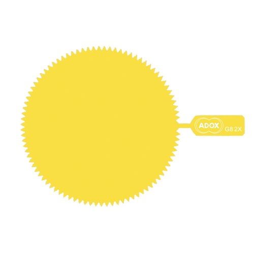 ADOX M43 Snap-On Yellow Gelatine Filter - Factor 2