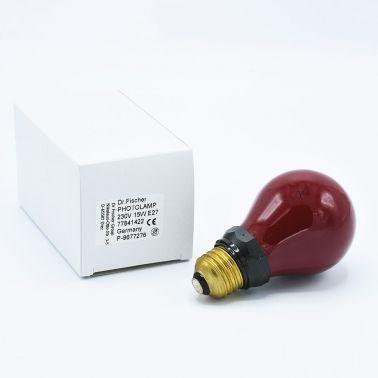 Dr. Fischer Red Darkroom Light Bulb 230V 15W