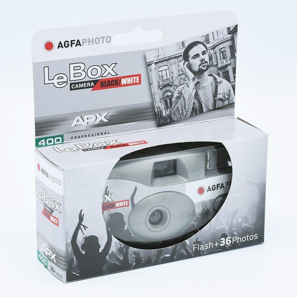 AgfaPhoto LeBox Black&White (APX 400) Appareil Photo Jetable / 36 poses