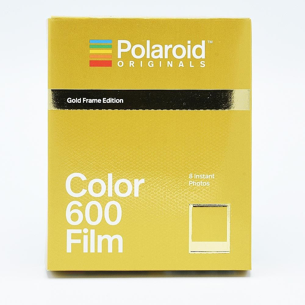 Polaroid 600 Color Instant Film - Gold Frames