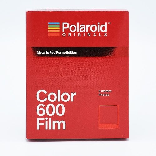 Polaroid 600 Color Instant Film - Metallic Red Frame Edition