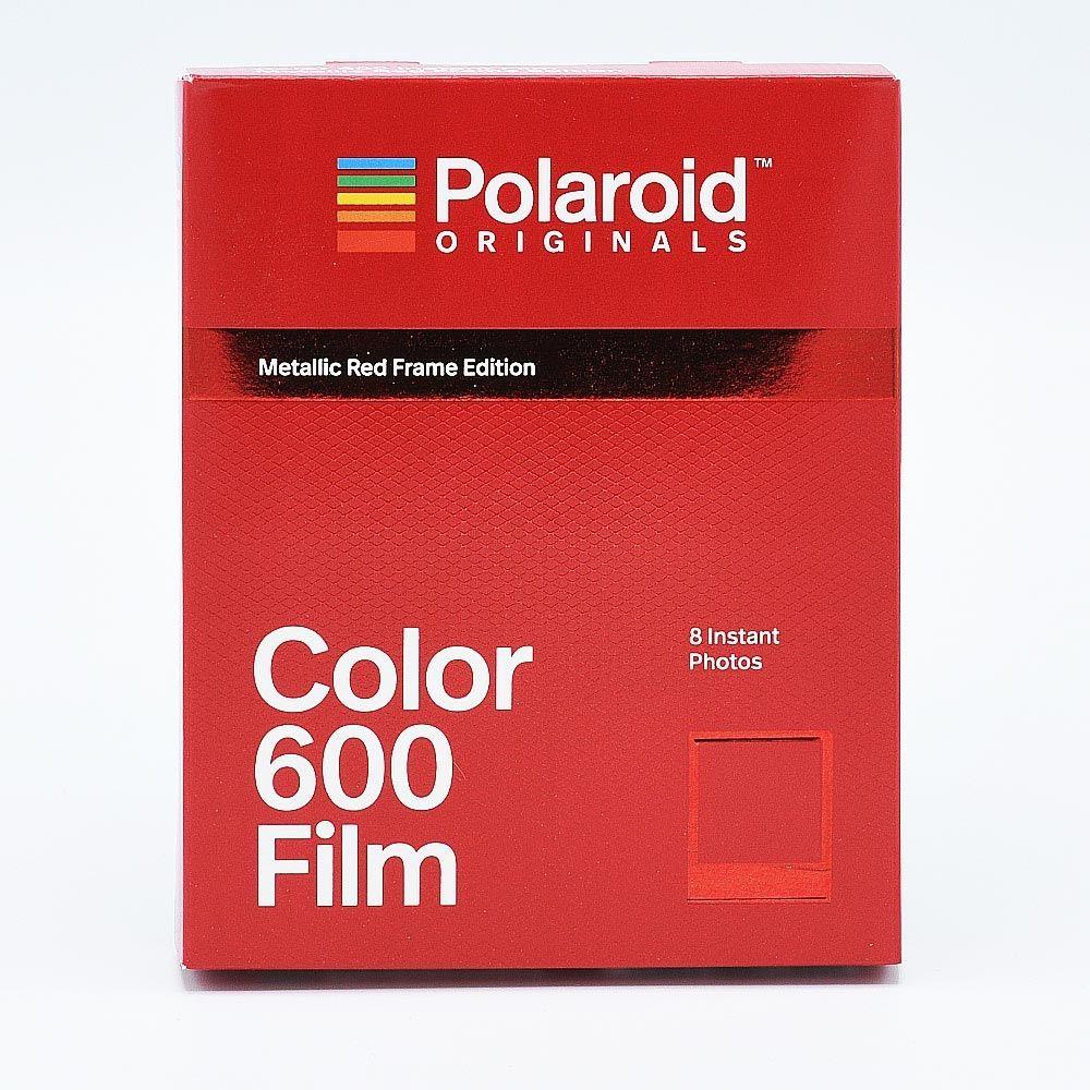 Polaroid 600 Color Instant Film - Cadres Rouge Métallisé