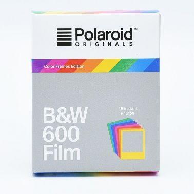 Polaroid 600 Film Instantané Noir et Blanc - Cadres Colorés