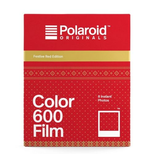 Polaroid 600 Color Instant Film - Festive Red Frame Edition