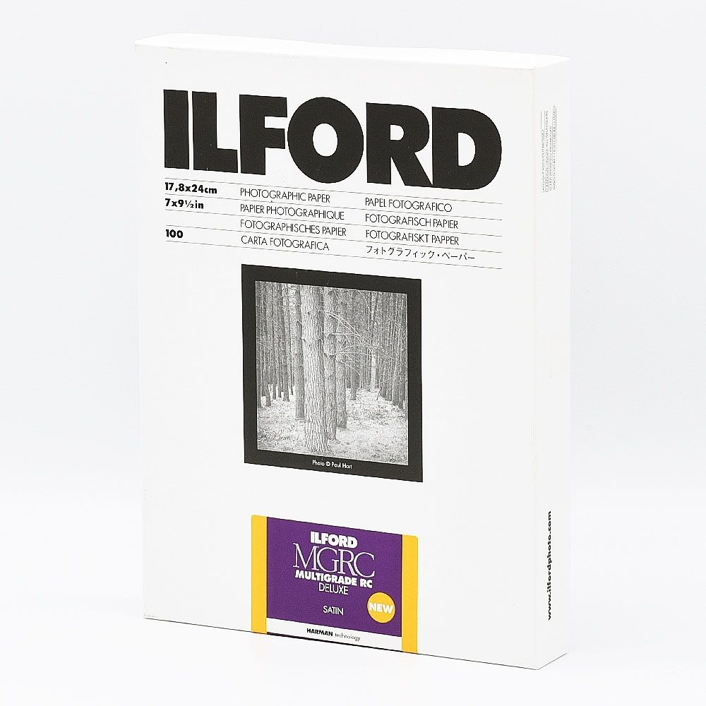 Ilford Photo 17,8x24 cm - SATIN - 100 SHEETS - Multigrade V RC Deluxe HAR1180507
