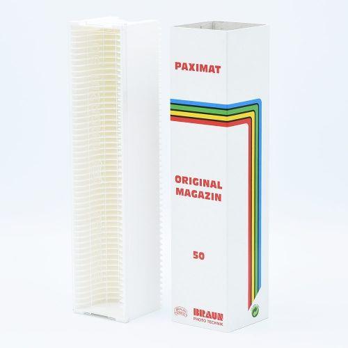 Braun Paximat 50 Boîte de Rangement pour Diapositives - Blanc