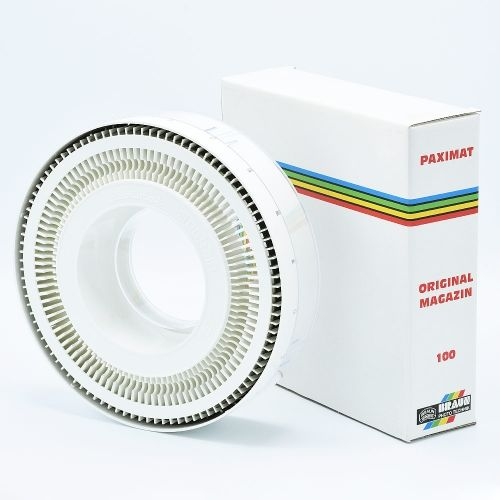 Braun Paximat 100 Boîte de Rangement Circulaire pour Diapositives - Blanc