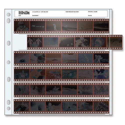 Print File Negative Storage Pages 35mm Film 6x6 - Polyethylene - 25 pcs